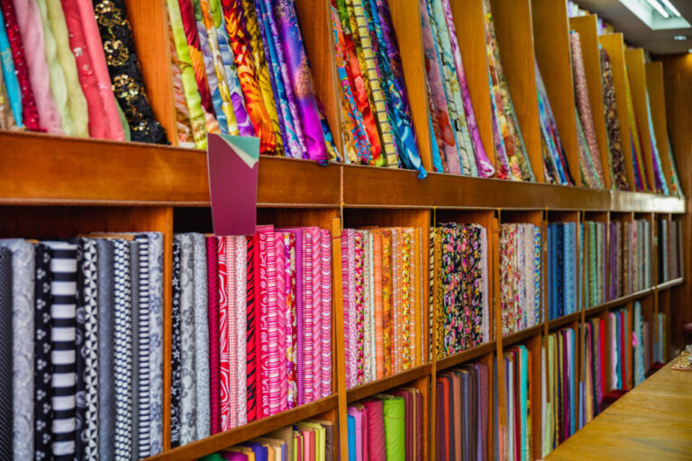 colorful-asian-fabric-and-textiles-in-store-4GJT3LB